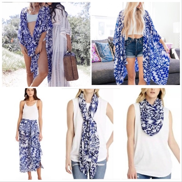 7868c9a036 Michael Stars Ikat Ruana sarong/wrap/shawl/scarf. M_5cc61abdaa7ed3f005fde60c